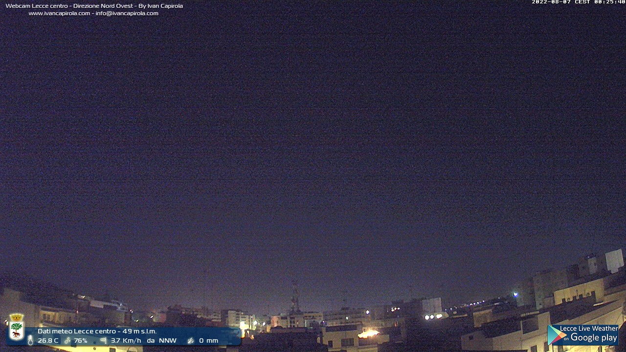 Webcam Lecce vista a NW