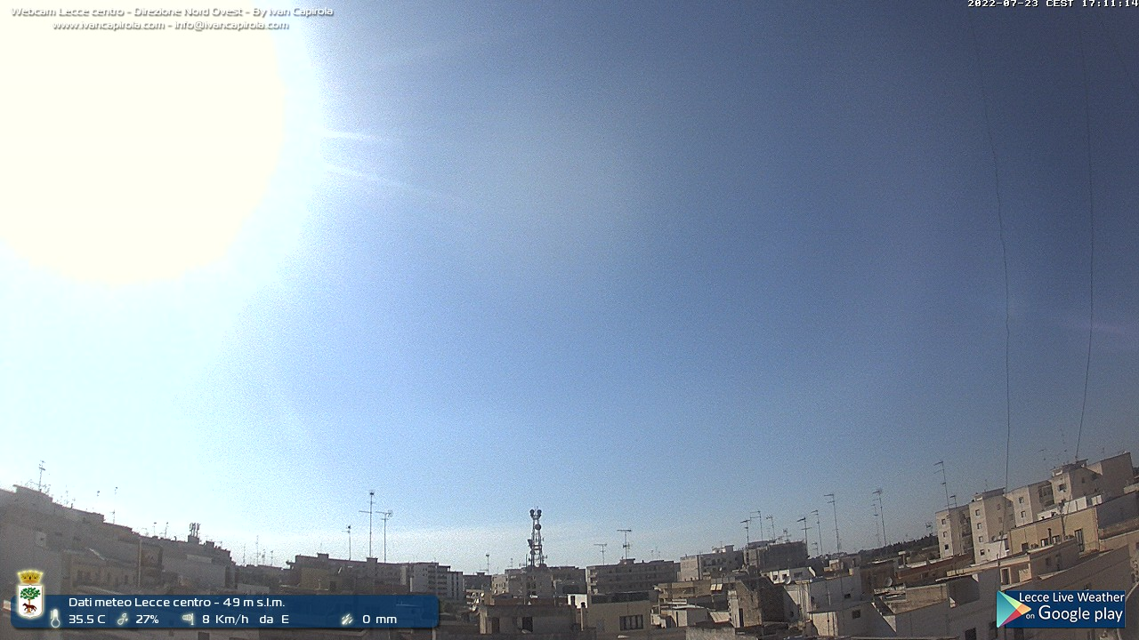 Webcam Lecce - Lecce Live Weather